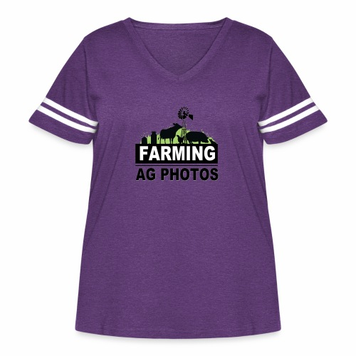 Farming Ag Photos - Women's Curvy Vintage Sport T-Shirt