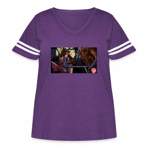 Anime Demon Hunter - Women's Curvy Vintage Sport T-Shirt