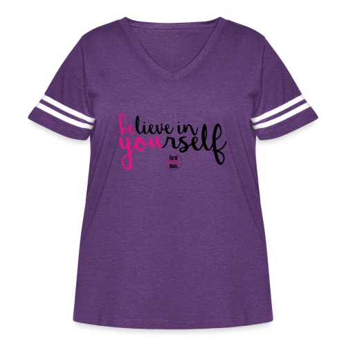 BE YOU shirt design w logo - Women's Curvy Vintage Sports T-Shirt