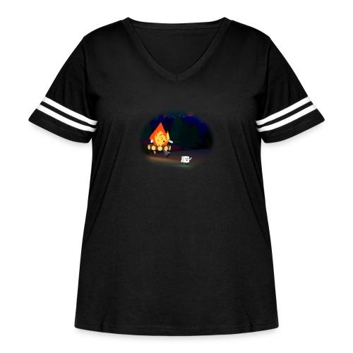 'Round the Campfire - Women's Curvy Vintage Sport T-Shirt