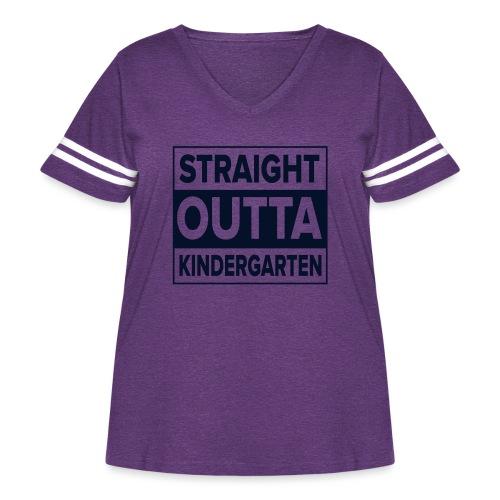 Straight Outta Kindergarten - Women's Curvy Vintage Sport T-Shirt