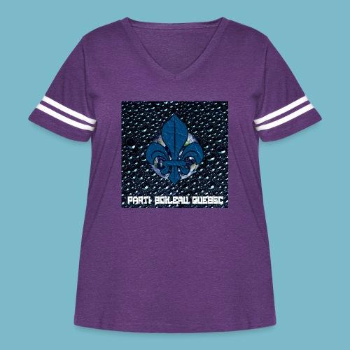party boileau 6 - Women's Curvy Vintage Sport T-Shirt