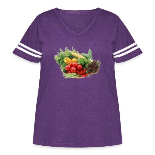 vegetable fruits - Women's Curvy Vintage Sport T-Shirt