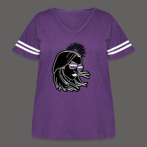 SurferGirl - Women's Curvy Vintage Sport T-Shirt