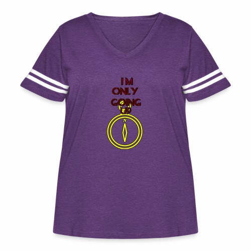 Im only going up - Women's Curvy Vintage Sport T-Shirt