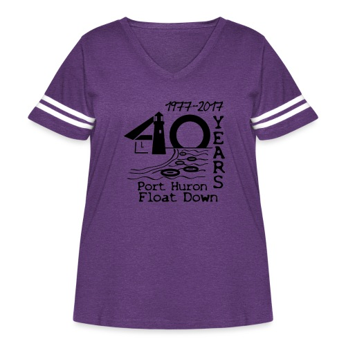Port Huron Float Down 2017 - 40th Anniversary Shir - Women's Curvy Vintage Sport T-Shirt