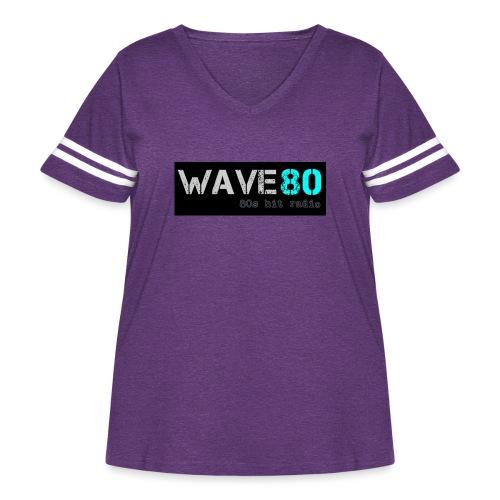 Main Logo - Women's Curvy Vintage Sport T-Shirt