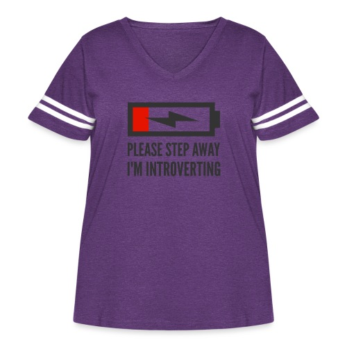 introverting - Women's Curvy Vintage Sport T-Shirt