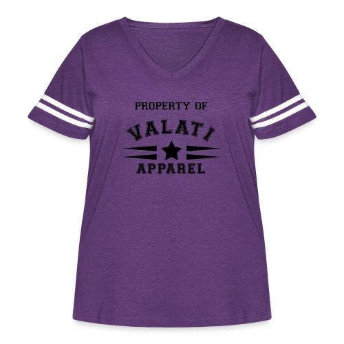 Property Of - Women's Curvy Vintage Sport T-Shirt