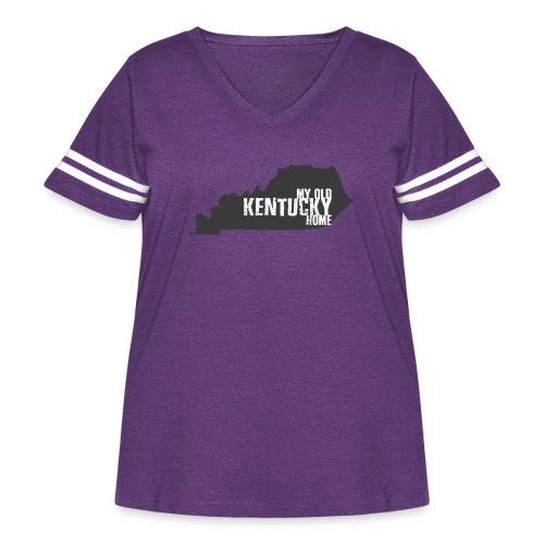 My Old Kentucky Home - Women's Curvy Vintage Sport T-Shirt
