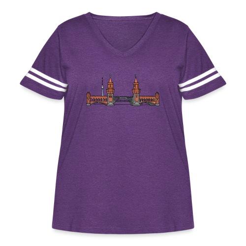 Oberbaum Bridge Berlin - Women's Curvy Vintage Sport T-Shirt