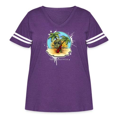 let's have a safe surf home - Women's Curvy Vintage Sport T-Shirt