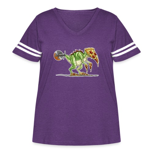 pizzasaurus - Women's Curvy Vintage Sport T-Shirt