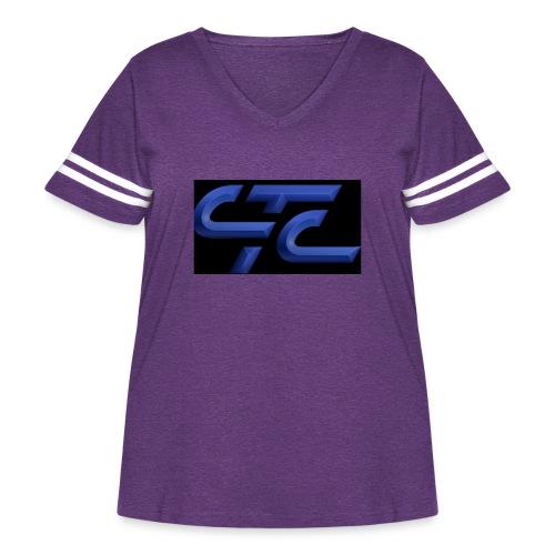 4CA47E3D 2855 4CA9 A4B9 569FE87CE8AF - Women's Curvy Vintage Sport T-Shirt
