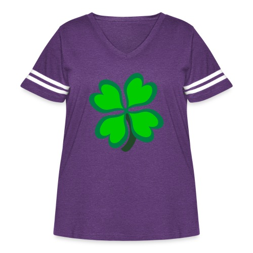 4 leaf clover - Women's Curvy Vintage Sport T-Shirt