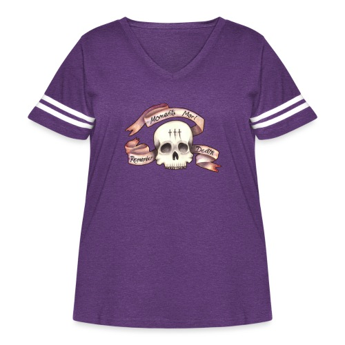 Momento Mori - Remember Death - Women's Curvy Vintage Sport T-Shirt