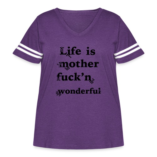 wonderful life - Women's Curvy Vintage Sport T-Shirt