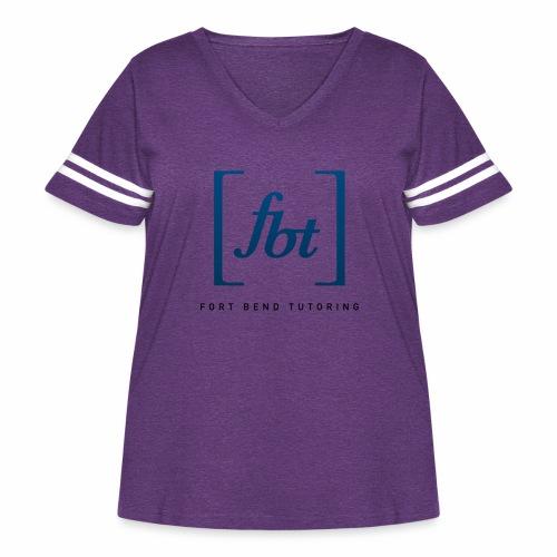 Fort Bend Tutoring Logo [fbt] - Women's Curvy Vintage Sport T-Shirt
