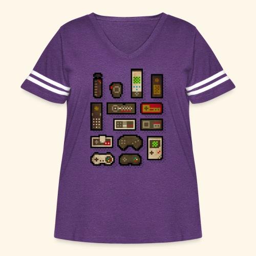 pixelcontrol - Women's Curvy Vintage Sport T-Shirt