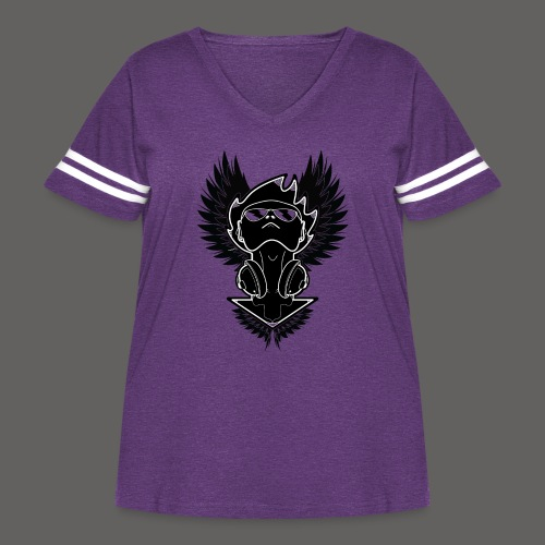 Winged Dj - Women's Curvy Vintage Sport T-Shirt