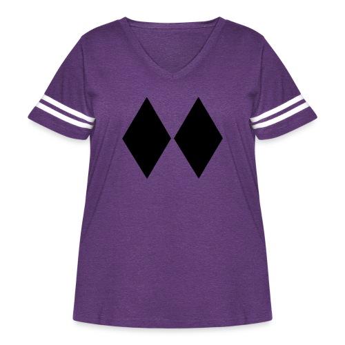 Double Black Diamond - Women's Curvy Vintage Sport T-Shirt