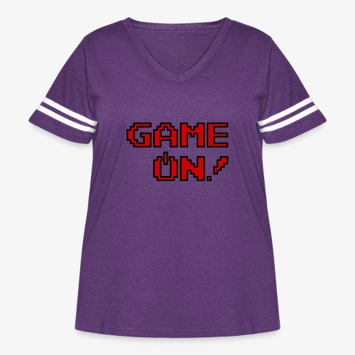 Game On.png - Women's Curvy Vintage Sport T-Shirt