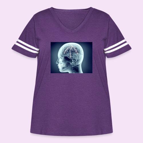 Recharge - Women's Curvy Vintage Sport T-Shirt