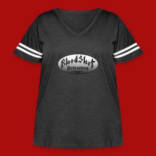 BloodShot Logo Black/White - Women's Curvy Vintage Sport T-Shirt