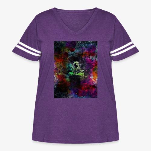 Astronaut - Women's Curvy Vintage Sport T-Shirt