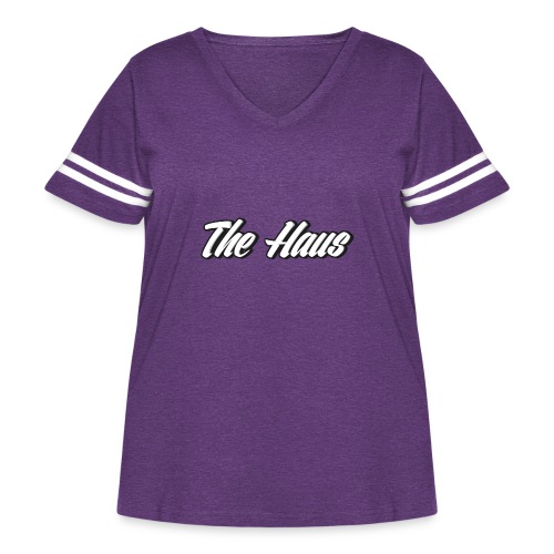 The Haus Logo - Women's Curvy Vintage Sport T-Shirt
