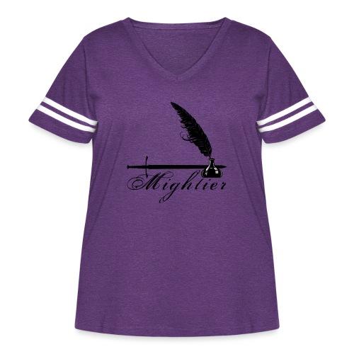 mightier - Women's Curvy Vintage Sport T-Shirt