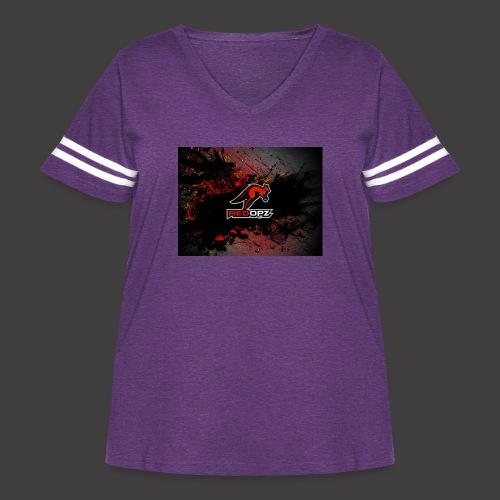 RedOpz Splatter - Women's Curvy Vintage Sport T-Shirt