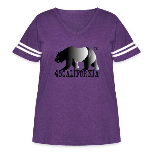 Golden Ratio California Bear Fine Art 45SURF - Women's Curvy Vintage Sport T-Shirt
