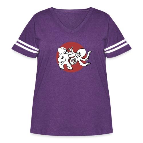 ElephantOctopusALT - Women's Curvy Vintage Sport T-Shirt