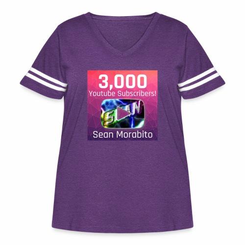 Sean Morabito's 3000 Sub's Logo - Women's Curvy Vintage Sport T-Shirt