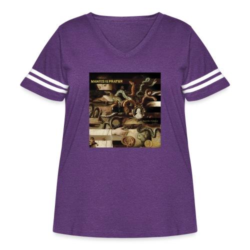 Mantis and the Prayer- Butterflies and Demons - Women's Curvy Vintage Sport T-Shirt