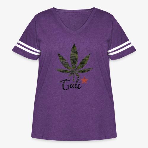 CaliStar.png - Women's Curvy Vintage Sport T-Shirt