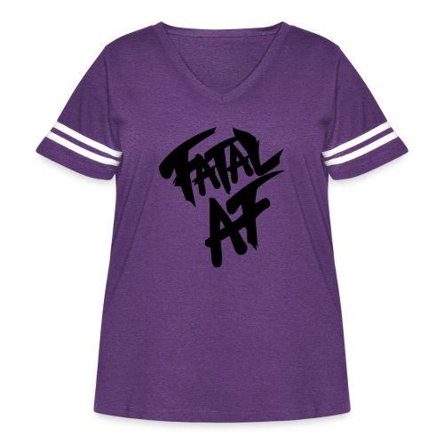 fatalaf - Women's Curvy Vintage Sports T-Shirt