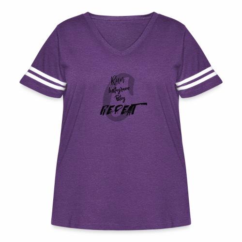 RunInstagramBlog - Women's Curvy Vintage Sport T-Shirt
