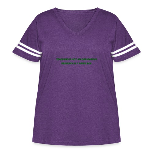 Teaching - Women's Curvy Vintage Sport T-Shirt