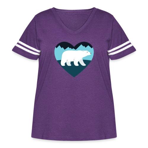 Polar Bear Love - Women's Curvy Vintage Sport T-Shirt