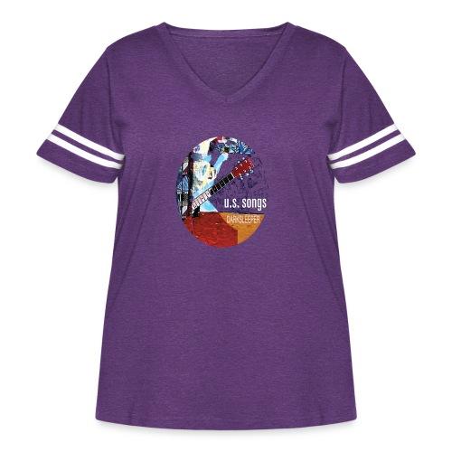 US circle 2 - Women's Curvy Vintage Sport T-Shirt