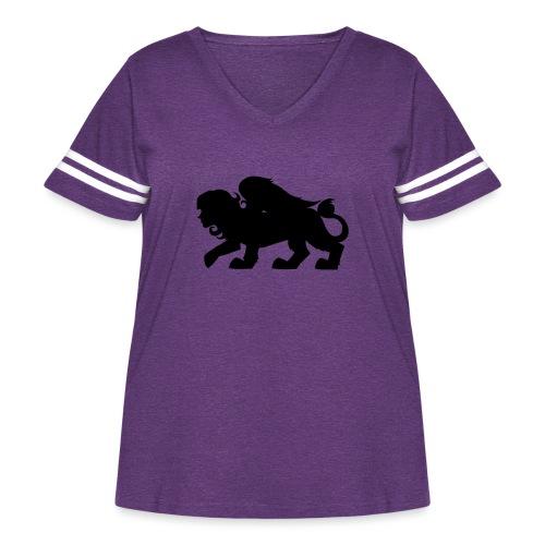 Sphynx Silhouette - Women's Curvy Vintage Sport T-Shirt