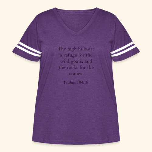 High Hills KJV - Women's Curvy Vintage Sport T-Shirt