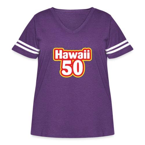 Hawaii 50 - Women's Curvy Vintage Sport T-Shirt