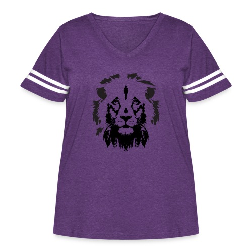 Lion head - Women's Curvy Vintage Sport T-Shirt