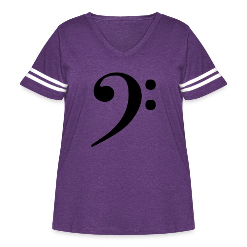 Bass Clef - Women's Curvy Vintage Sport T-Shirt