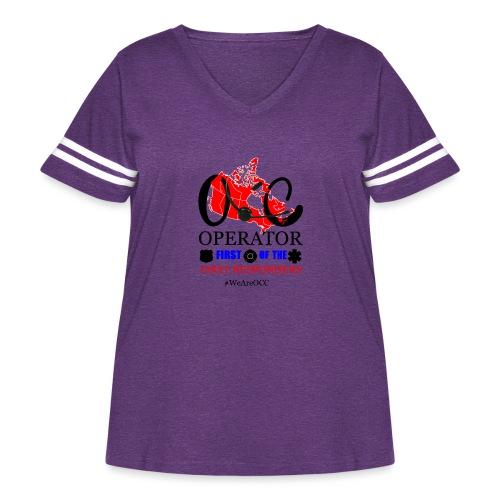 We Are OCC english - Women's Curvy Vintage Sport T-Shirt