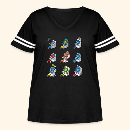 Pixelcandys - Women's Curvy Vintage Sport T-Shirt