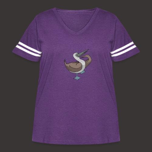 Boobie Bird Mating dance - Women's Curvy Vintage Sport T-Shirt